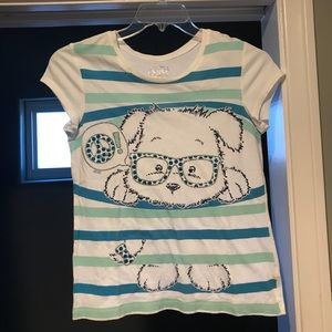 Super Cute Justice Girls' Doggy Glasses Shirt